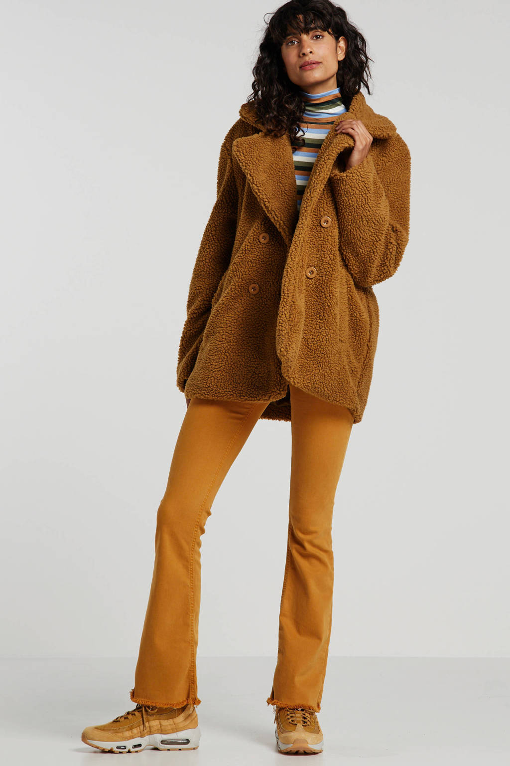 Wehkamp x NA-KD winterjas bruin, Camel