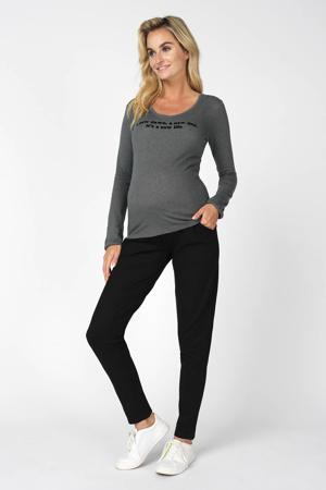 skinny zwangerschapsbroek Renee zwart