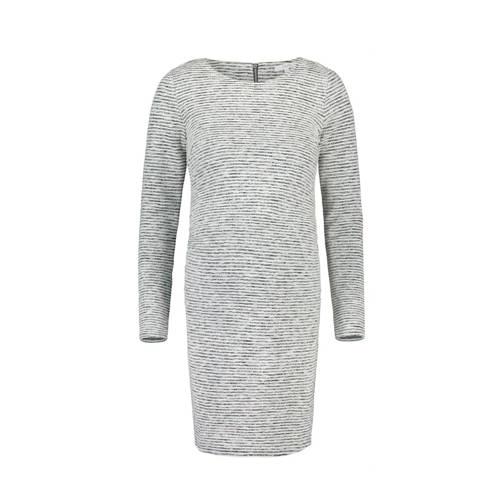 Noppies gemêleerde ribgebreide jurk Silje grijs