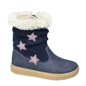 warmgevoerde laarzen blauw