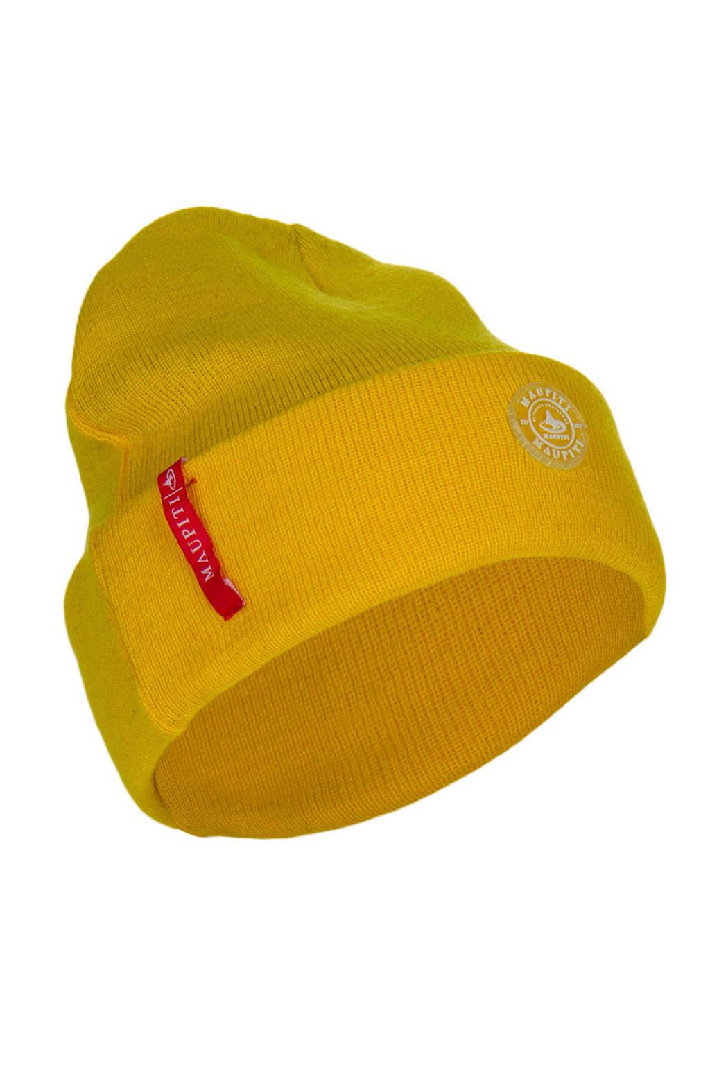 Maupiti muts beanie geel, Geel