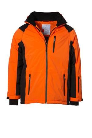ski-jack Mel oranje/zwart