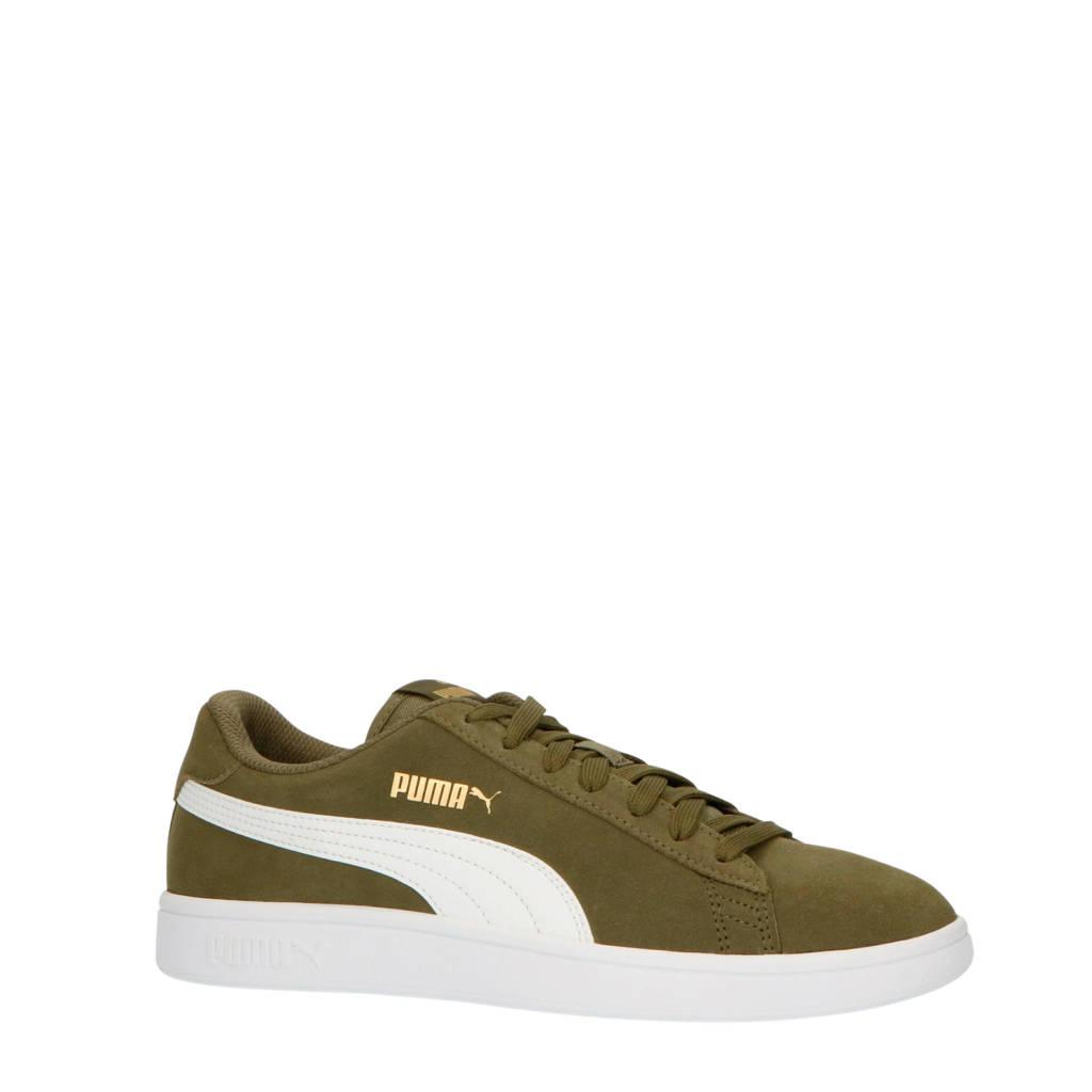 Puma  Smash V2 sneakers olijfgroen, Olijfgroen/wit