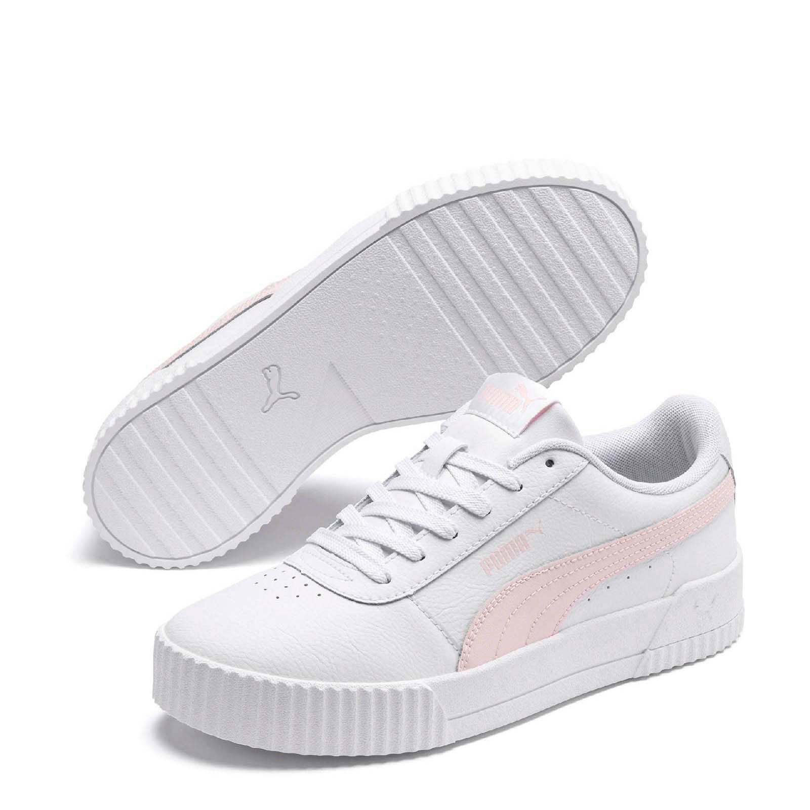 Puma Carina L sneakers wit/roze | wehkamp
