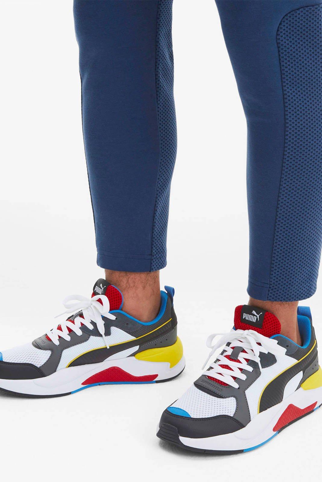 Puma X-Ray sneakers wit/zwart/rood/geel   wehkamp