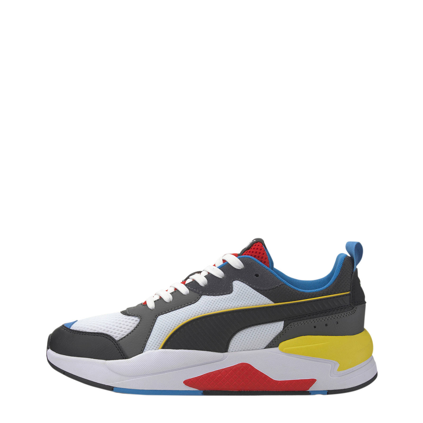 X-Ray sneakers wit/zwart/rood/geel