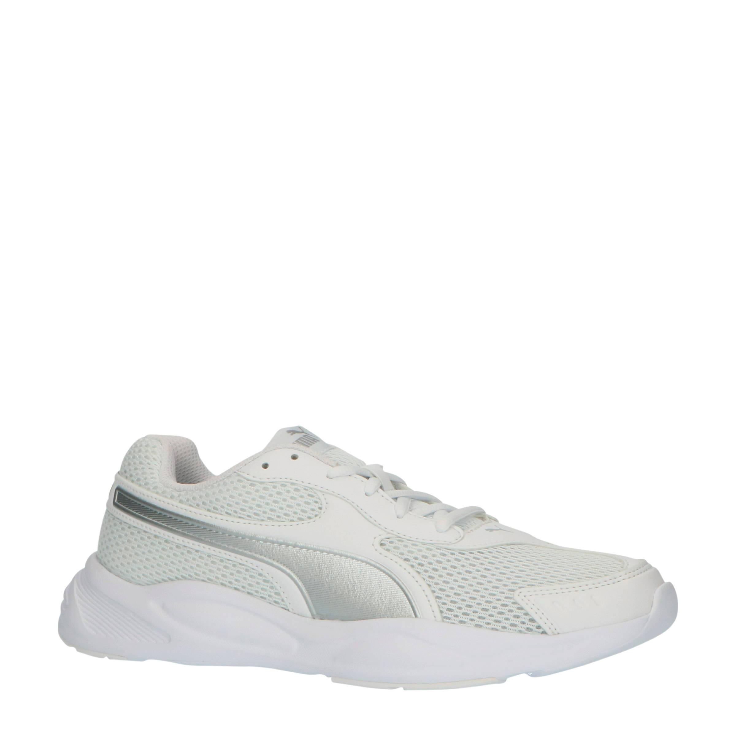 Puma 90s Runner sneakers wit/zilver | wehkamp