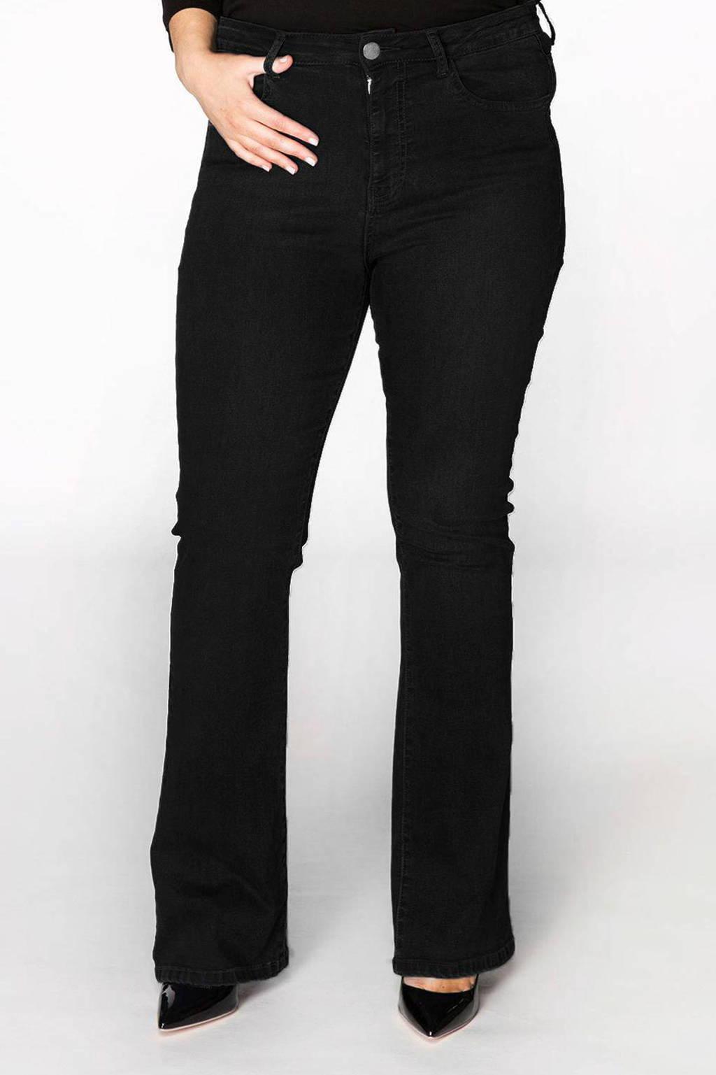 Yoek Jeans flared zwart B5598, Zwart