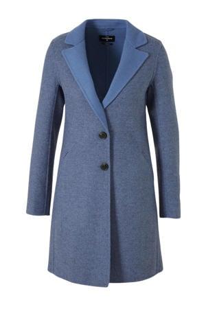 The Outerwear tussenjas met wol blauw