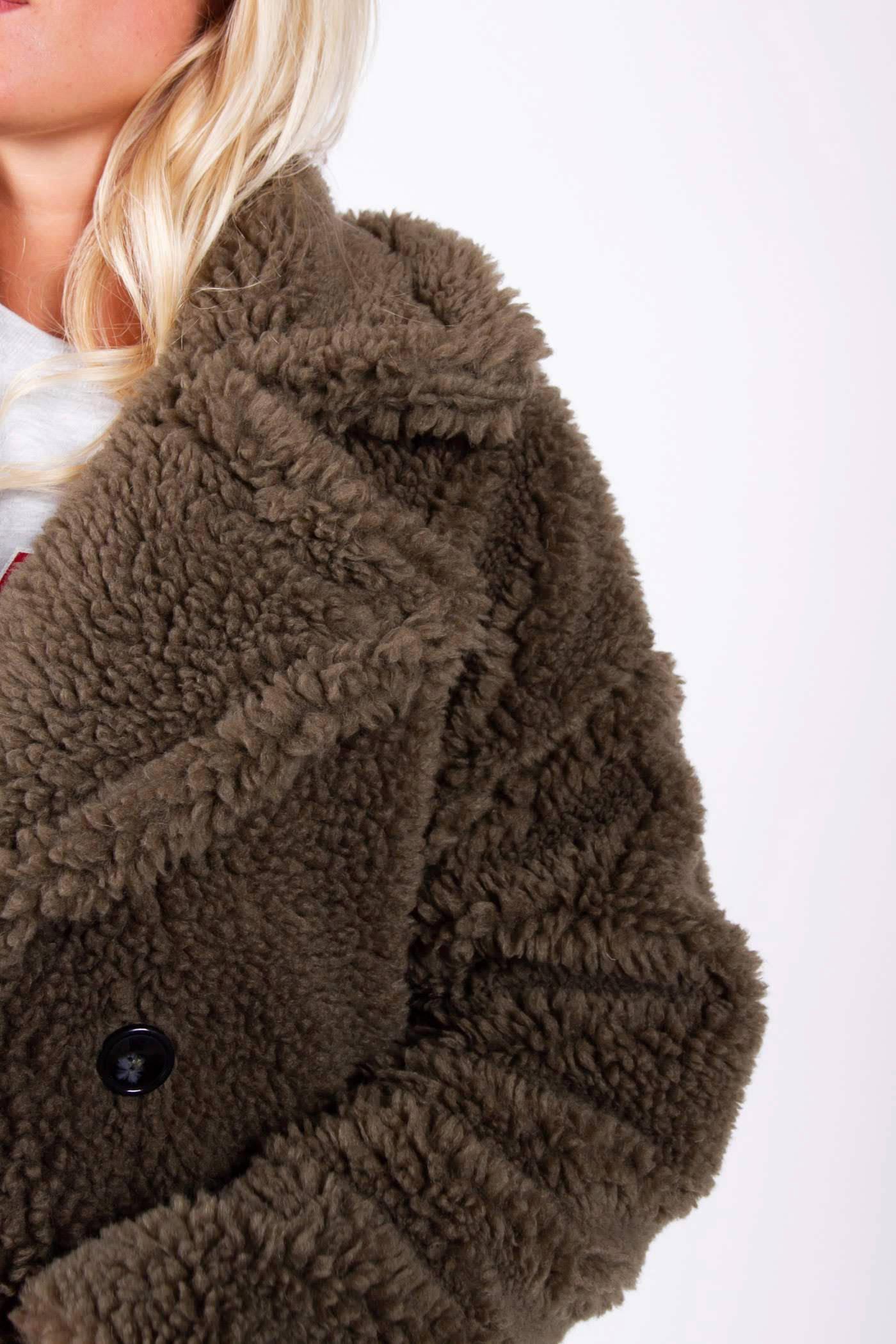 Colourful Rebel teddy jas bruin | wehkamp