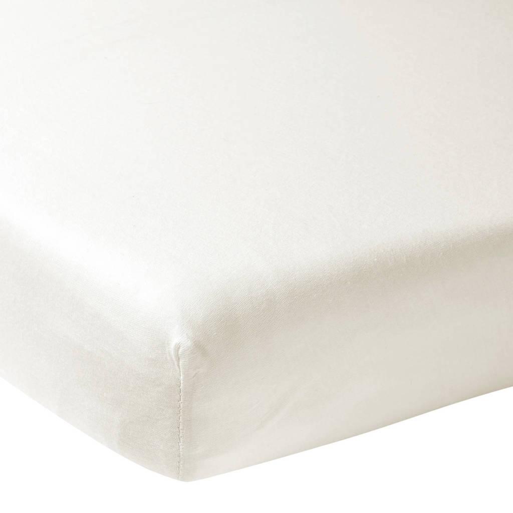 Meyco katoenen jersey hoeslaken wieg 40x80/90 cm offwhite Offwhite