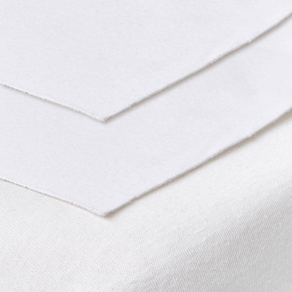 Meyco molton bedzeil 50x90 cm (set van 2), Wit