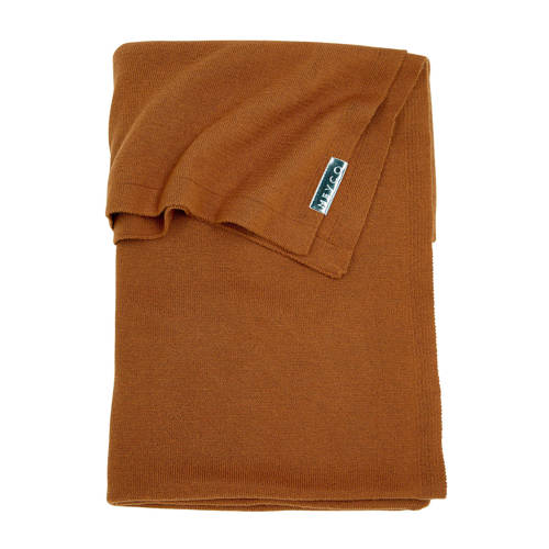 Meyco Knit Basic ledikantdeken 100x150 cm camel