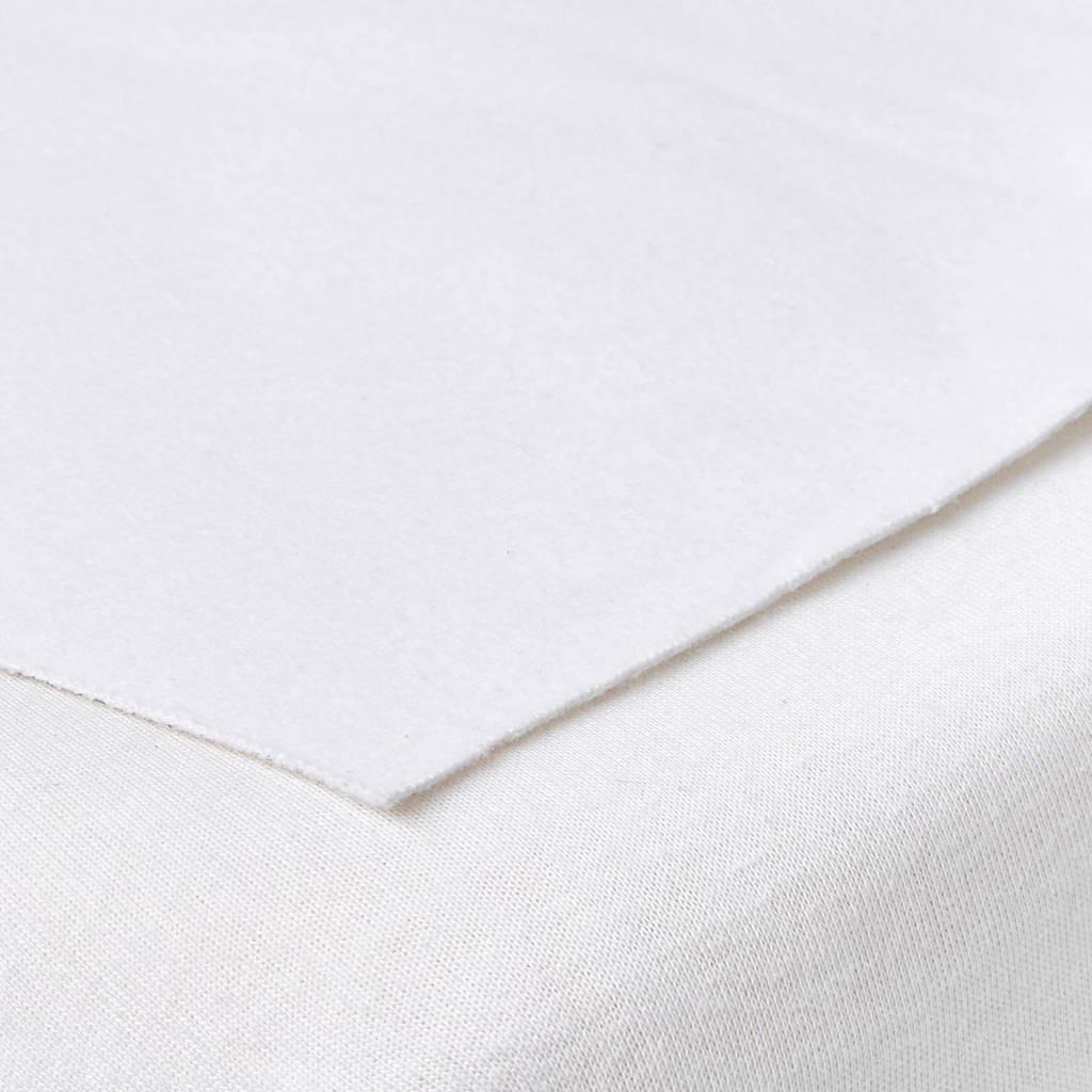 Meyco molton bedzeil 50x90 cm, Wit