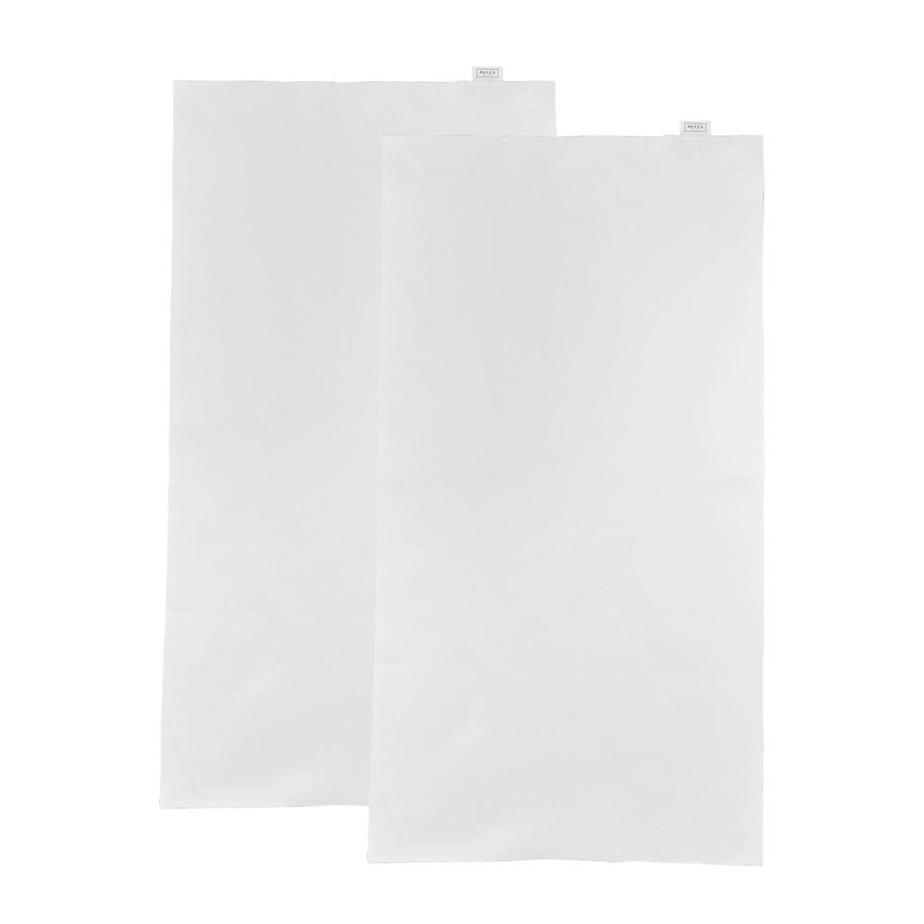 Meyco molton bedzeil 75x100 cm (set van 2), Wit