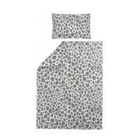 Meyco ledikantdekbedovertrek Panter (100x135 cm), Zand/grijs