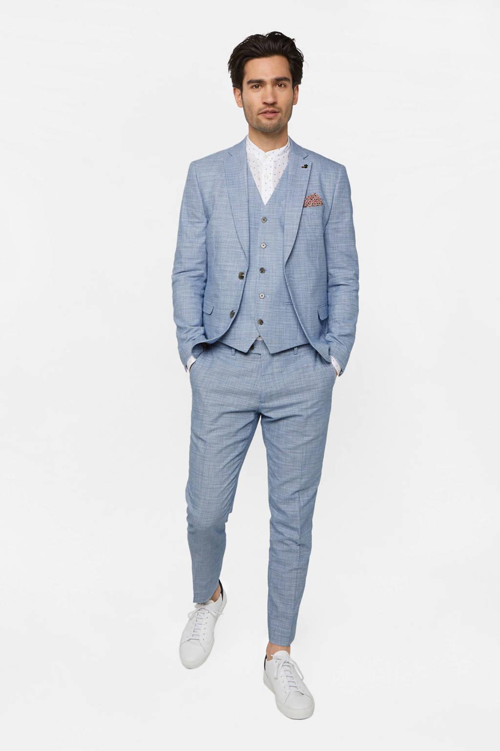 WE Fashion geruit gilet blue dream, Blue Dream