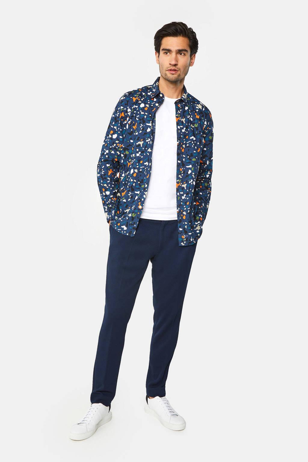 WE Fashion regular fit overhemd blauw, Petrol Blue