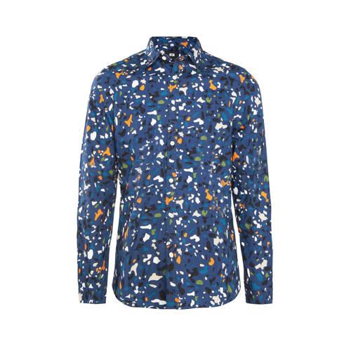 WE Fashion regular fit overhemd blauw