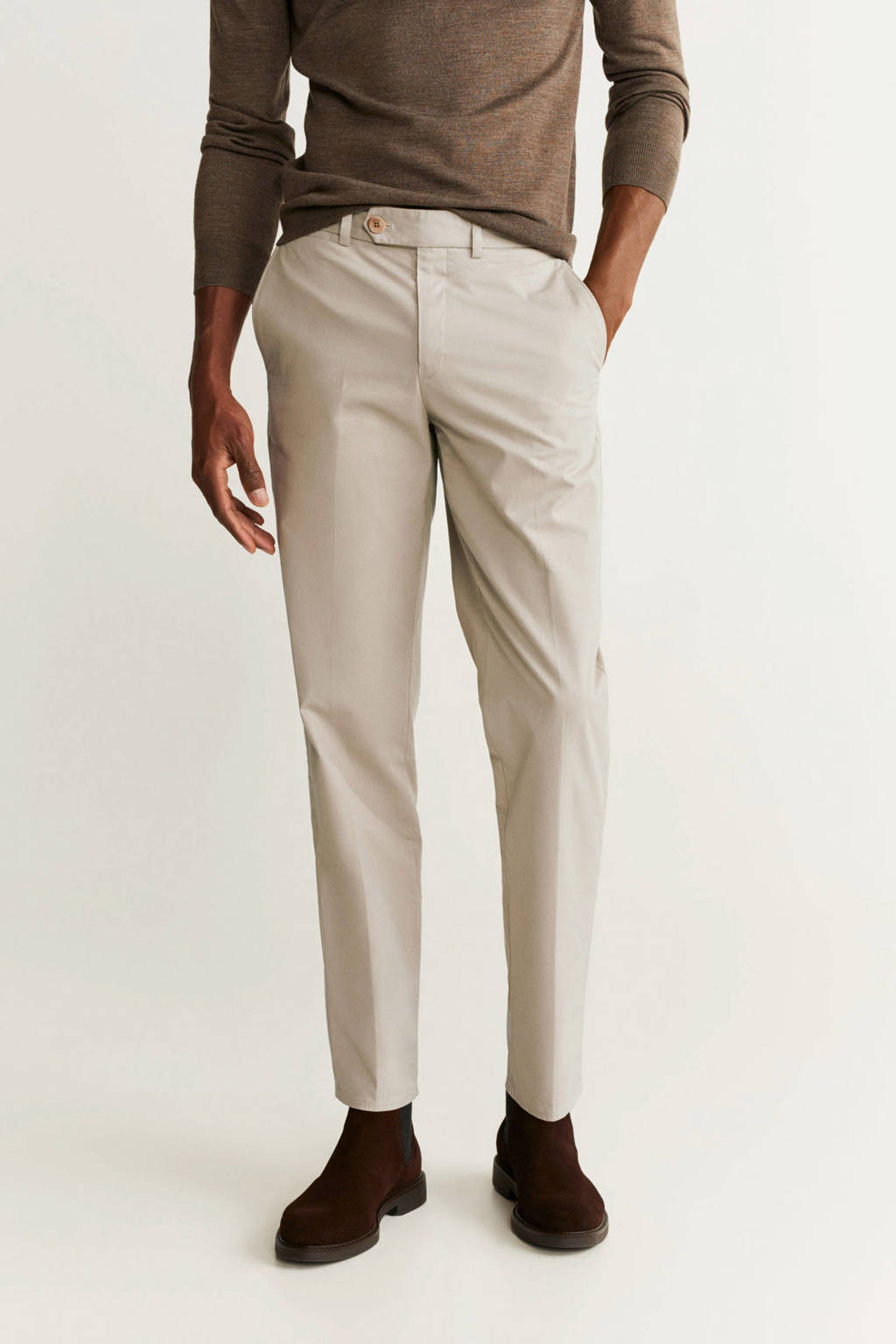 Mango Man regular fit chino beige, Beige