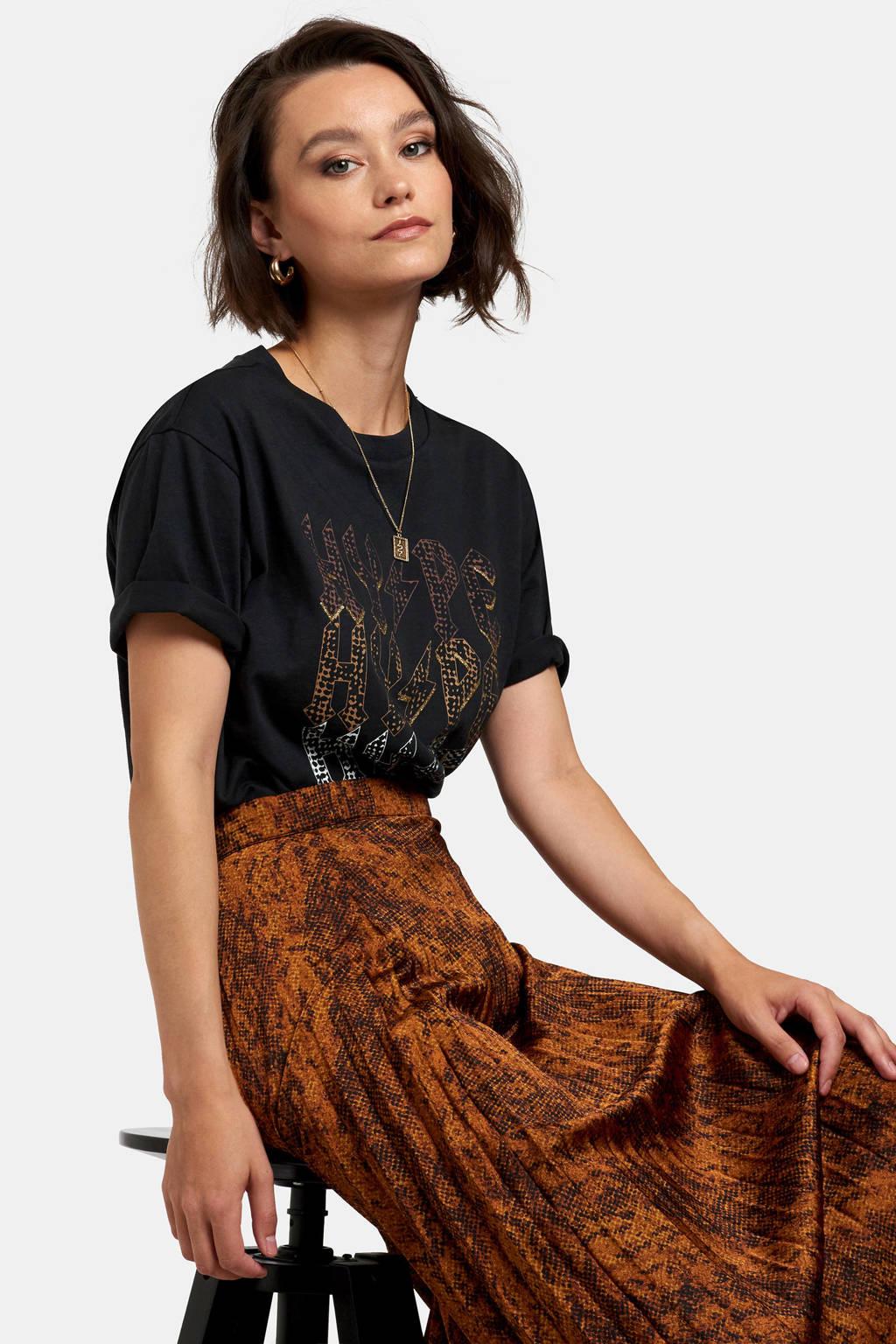 Eksept T-shirt met printopdruk antraciet, Antraciet