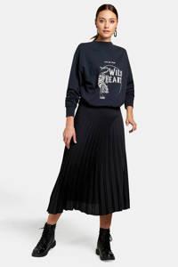 Eksept by Shoeby sweater met tekst antraciet, Antraciet