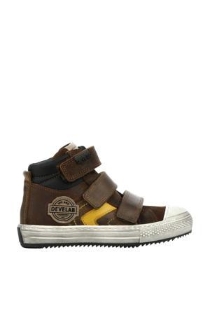 41167 leren sneakers bruin