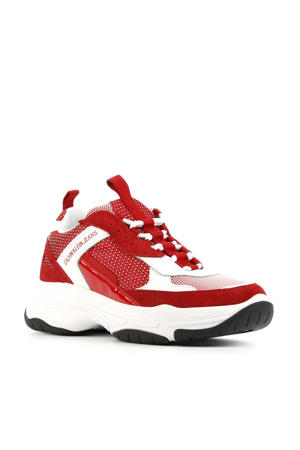 Maya chunky sneakers rood/wit