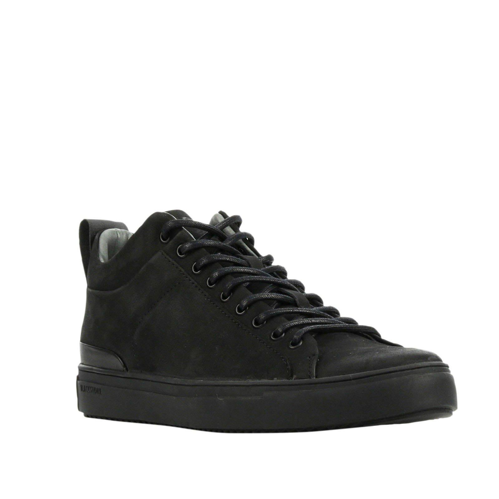 Blackstone SG19 nubuck sneakers zwart online kopen