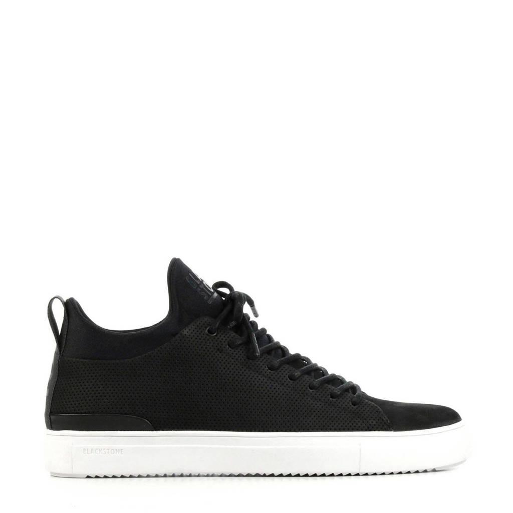 Blackstone SG38  suède sneakers zwart, Zwart