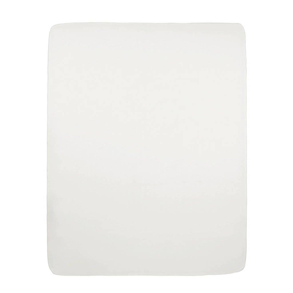 Meyco jersey hoeslaken boxmatras 75x95 cm offwhite