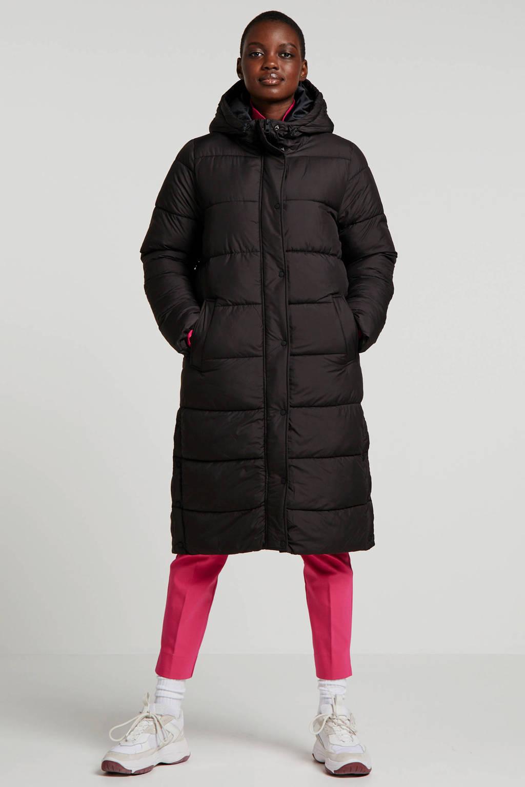 ONLY gewatteerde winterjas zwart, Zwart