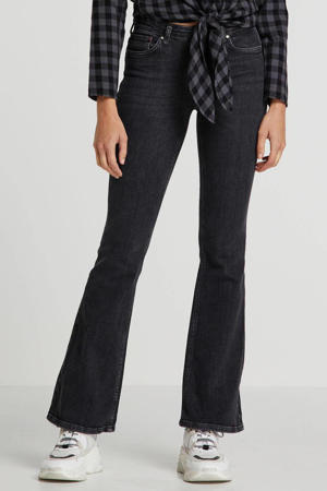 flared jeans antraciet
