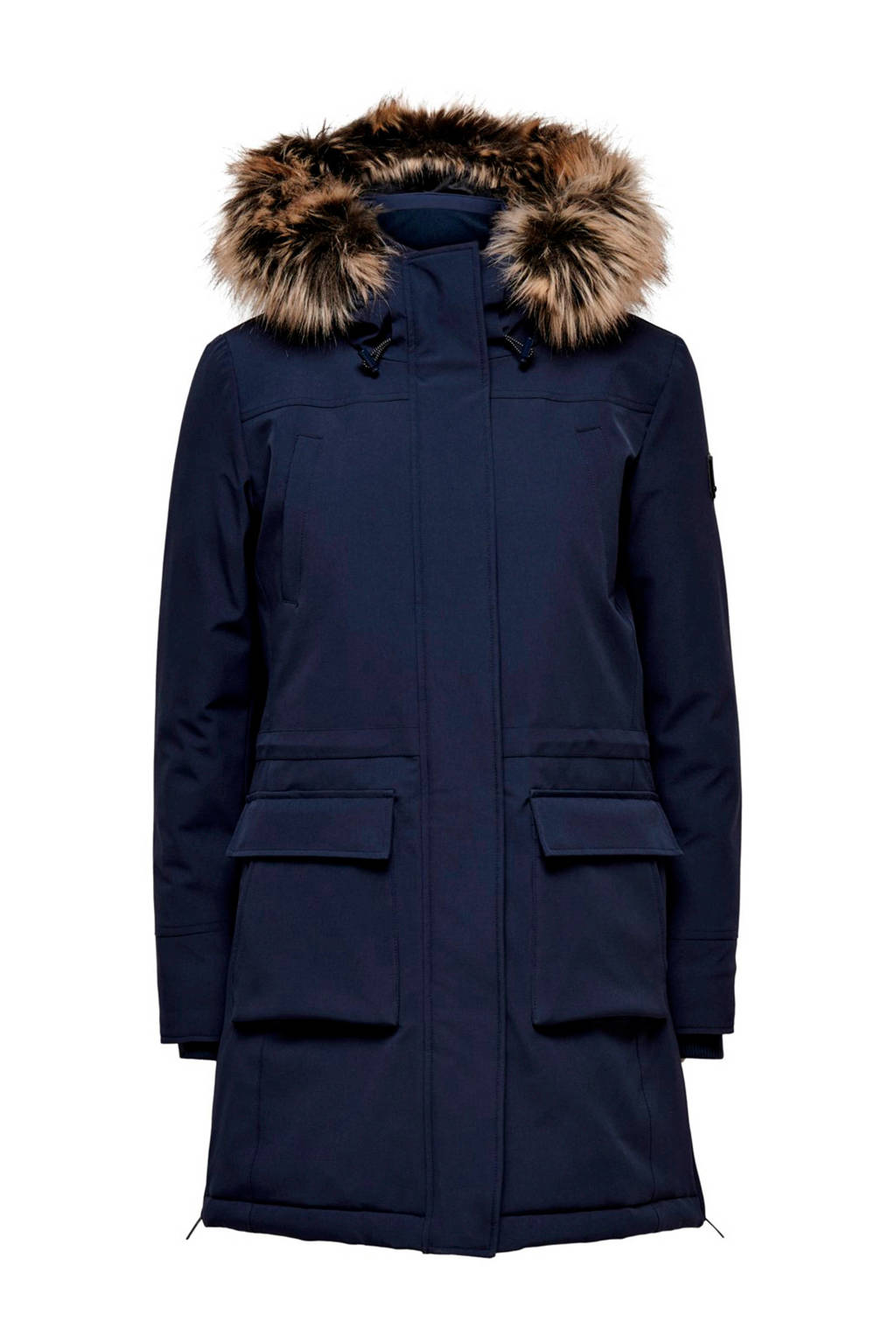 ONLY parka donkerblauw, Donkerblauw