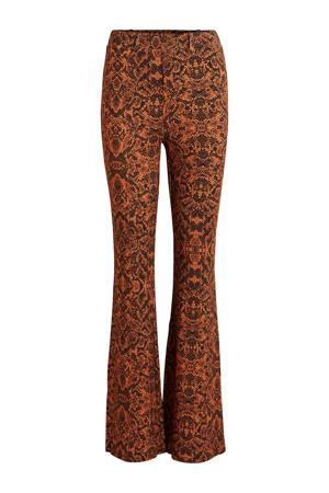 tijgerprint legging bruin