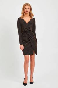 VILA jurk met glitters zwart, Zwart