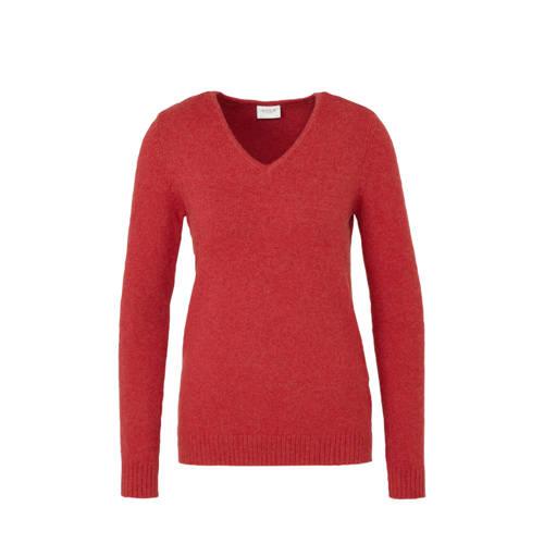 VILA fijngebreide trui rood