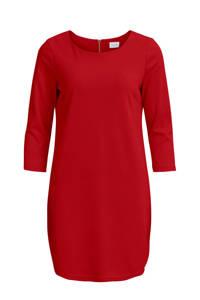 VILA fijngebreide jersey jurk rood, Rood