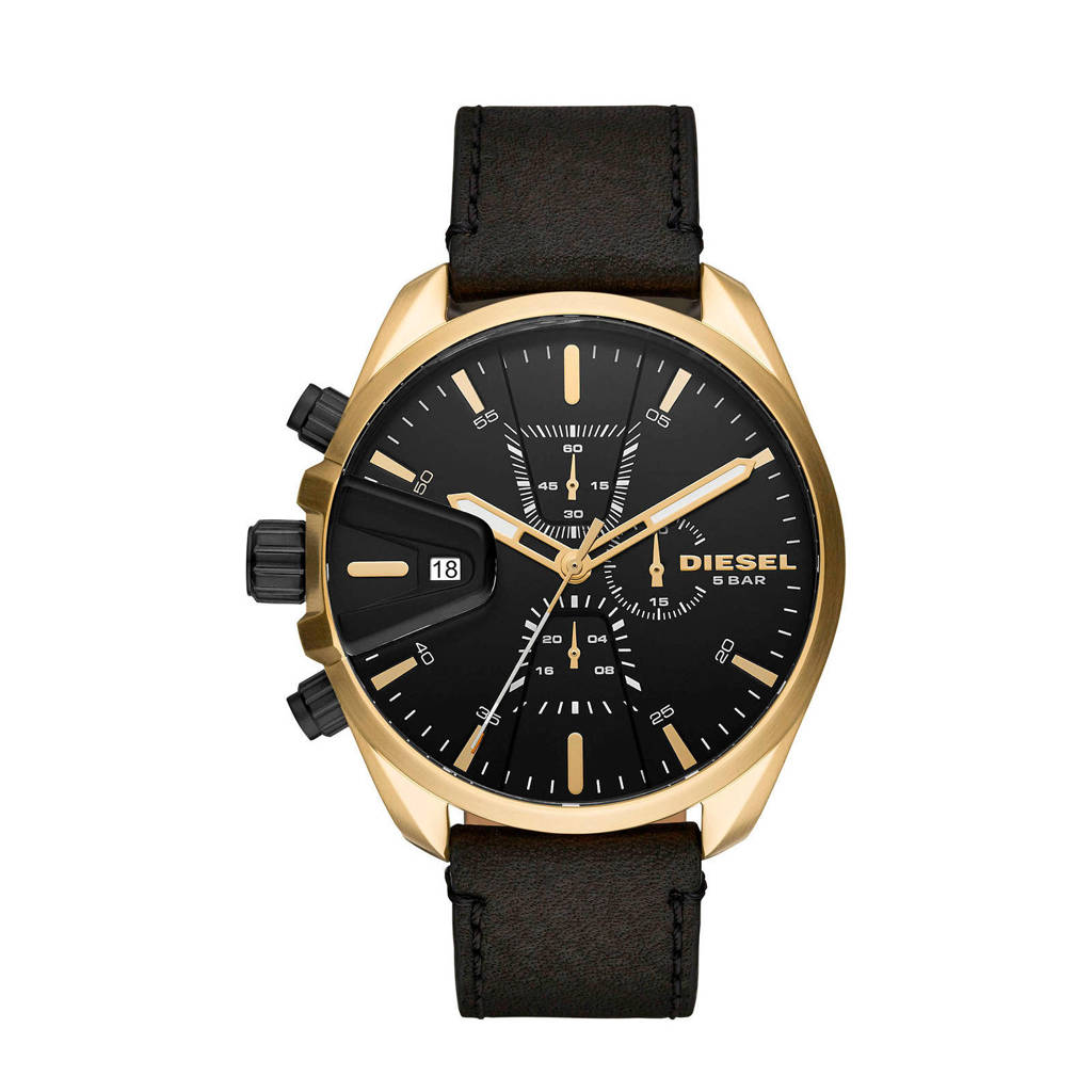 Diesel horloge Ms9 Chrono DZ4516 goudkleur/zwart, Goud