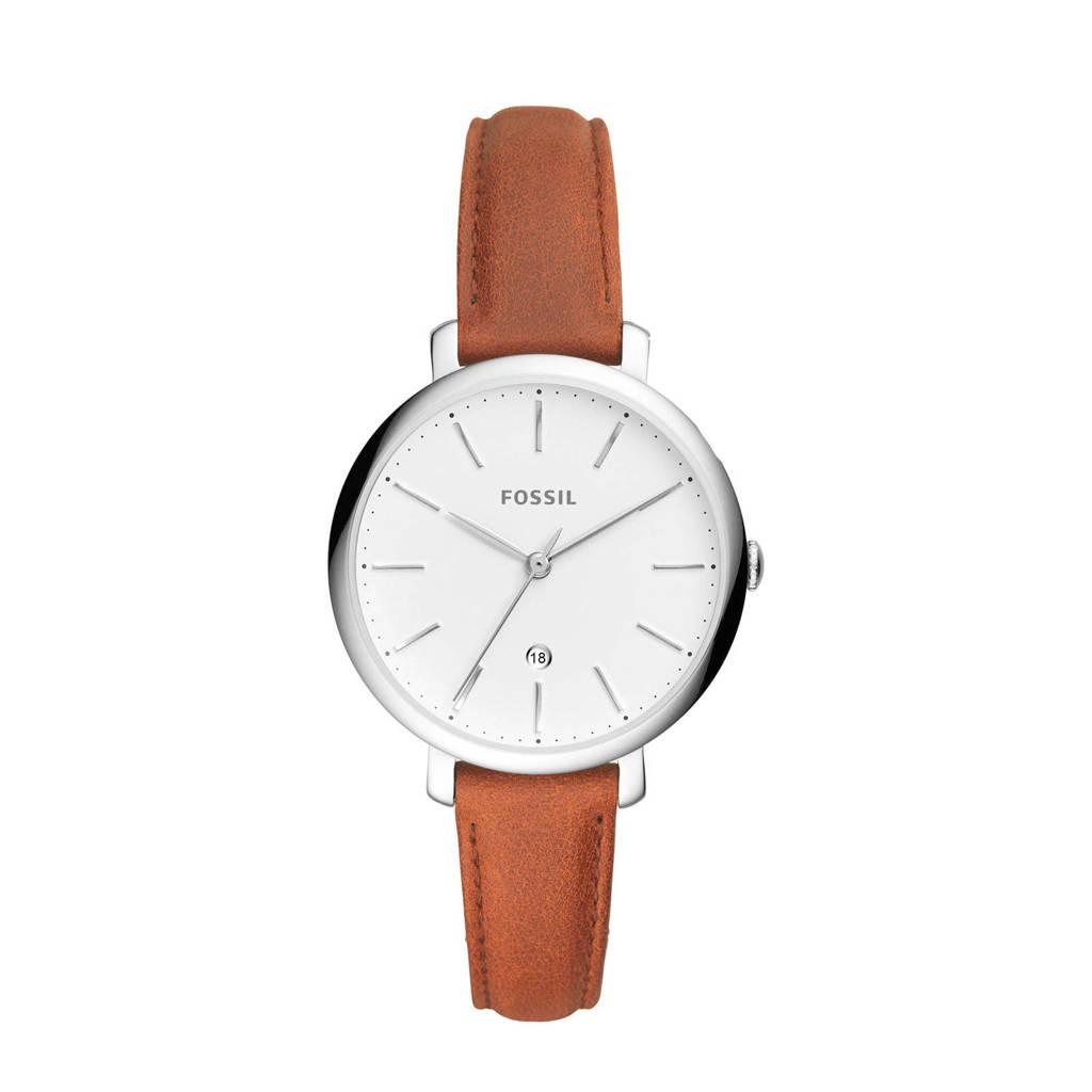 Fossil Jacqueline Dames Horloge ES4368, Zilver