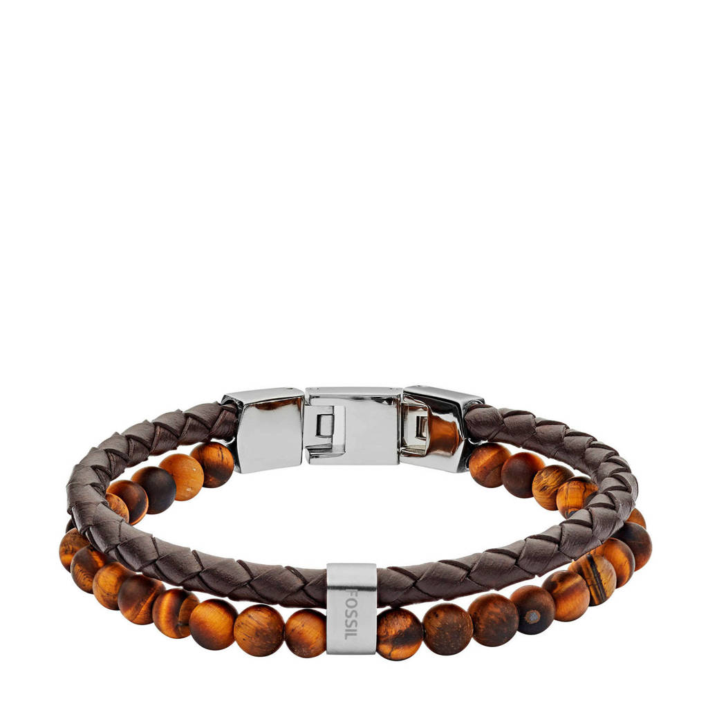 Fossil Vintage Casual Heren Armband JF03118040, Bruin