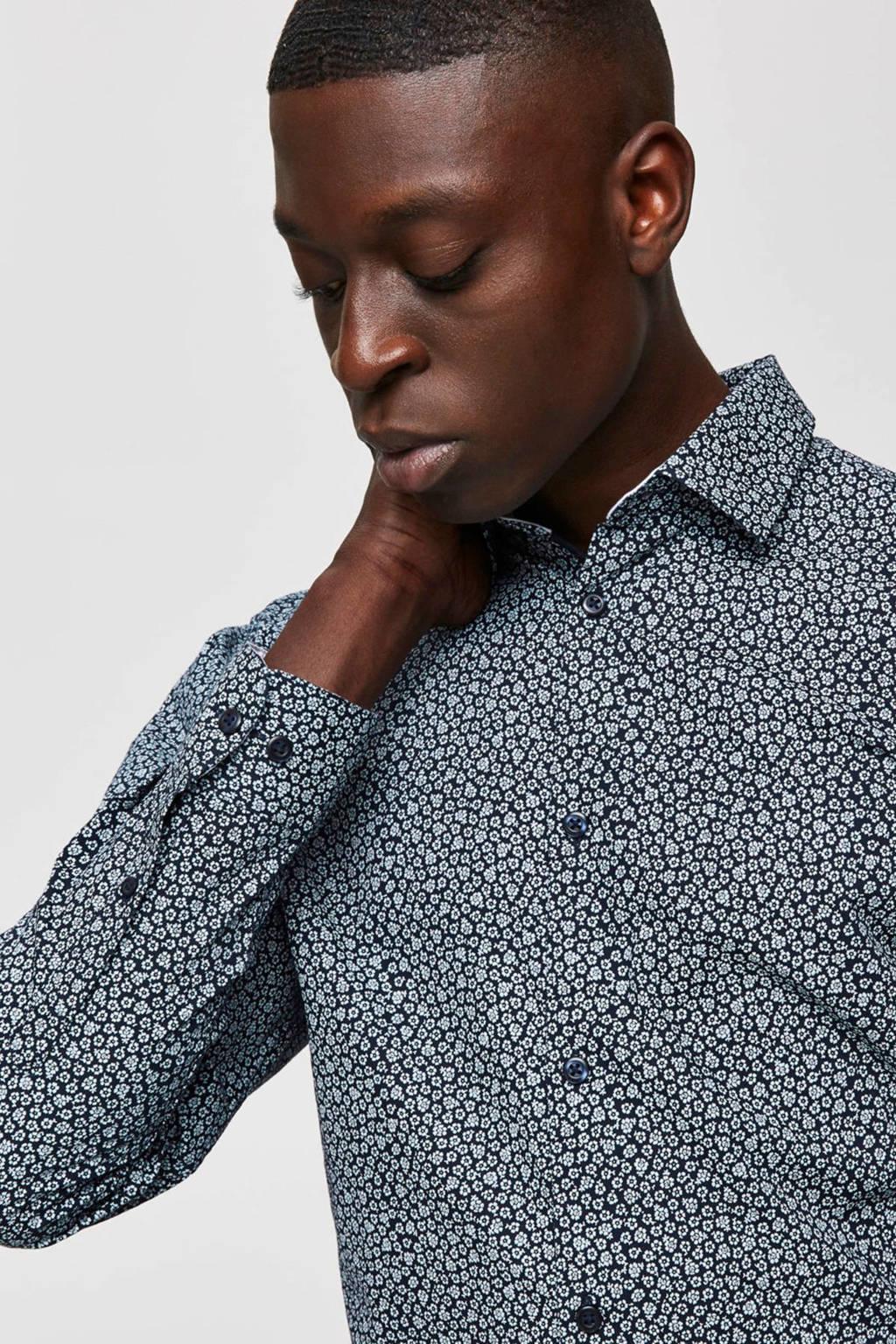 SELECTED HOMME slim fit overhemd zwart, Zwart