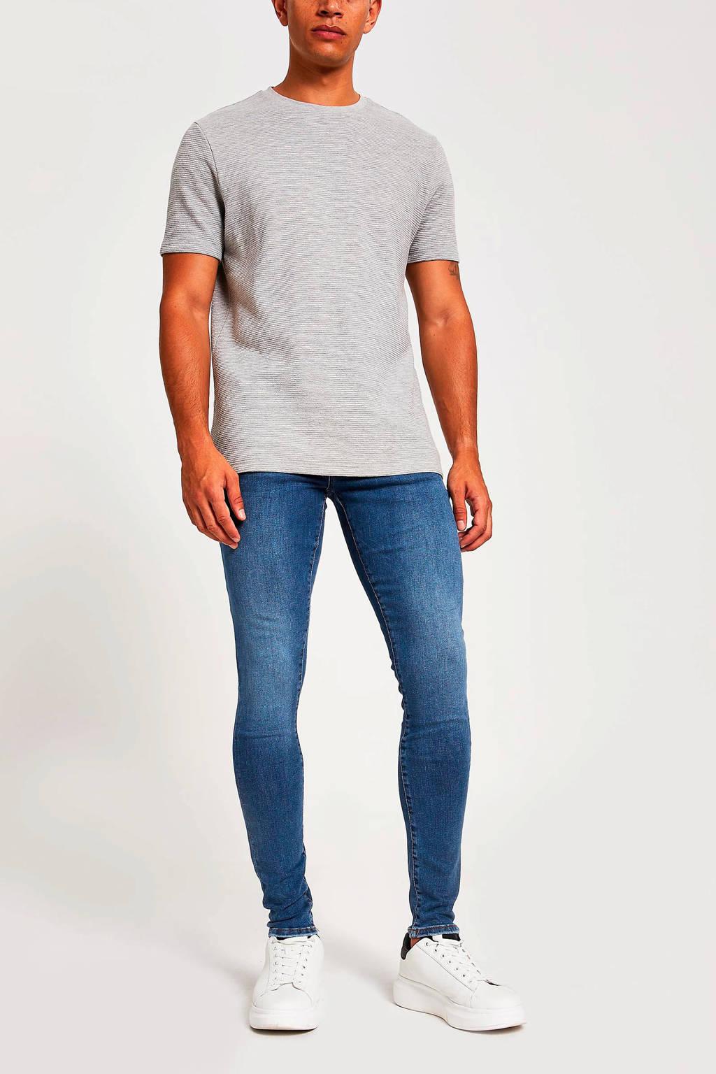 River Island skinny jeans mid blue, Mid blue