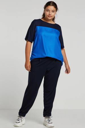 loose fit broek donkerblauw