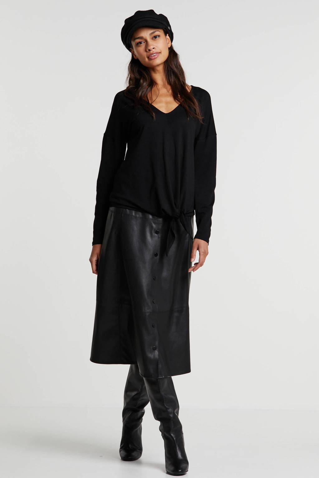 anytime oversized fit top zwart, Zwart