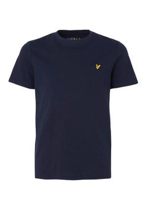 T-shirt met borduursels donkerblauw
