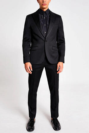 slim fit colbert zwart