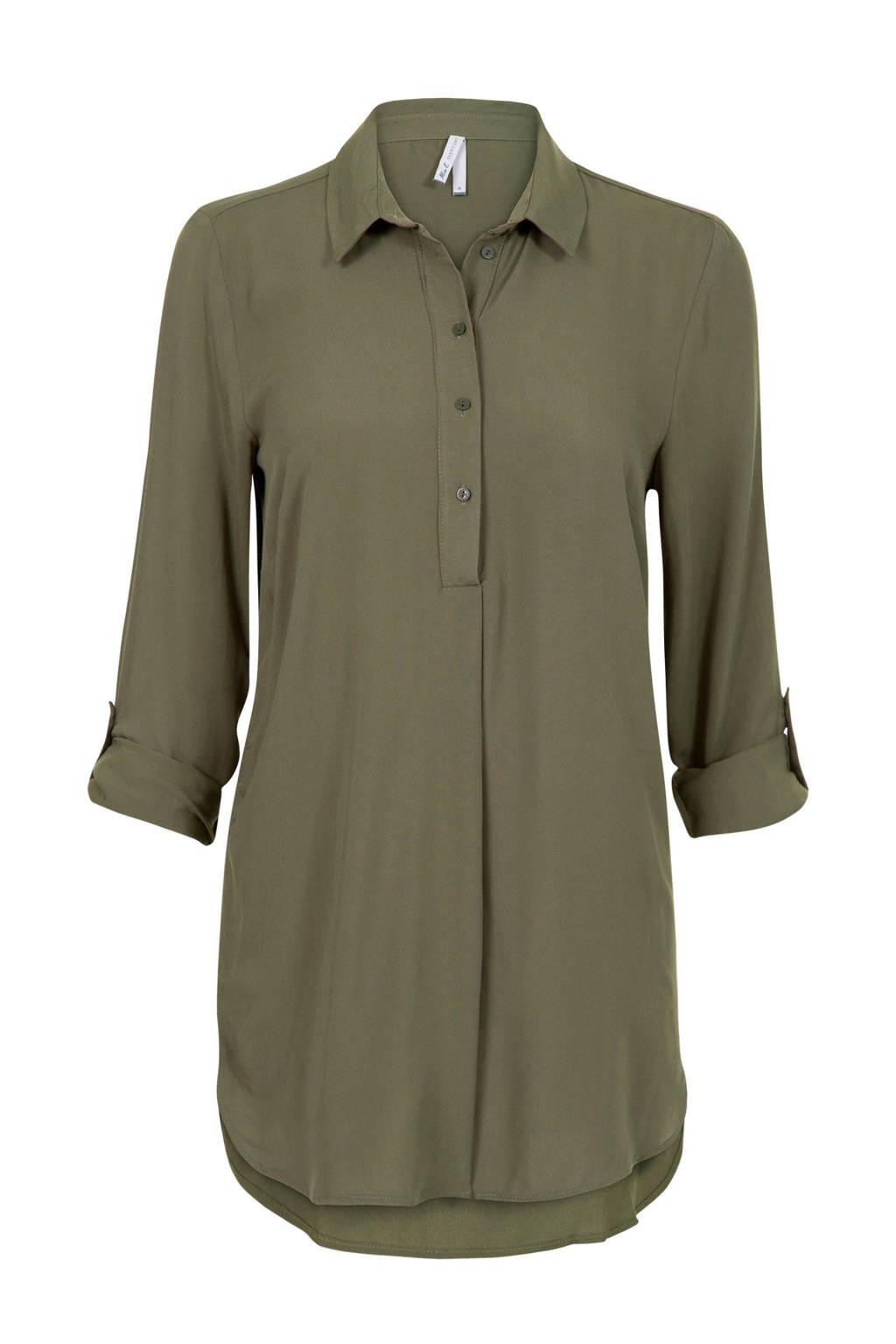 Miss Etam Lang blouse groen, Groen