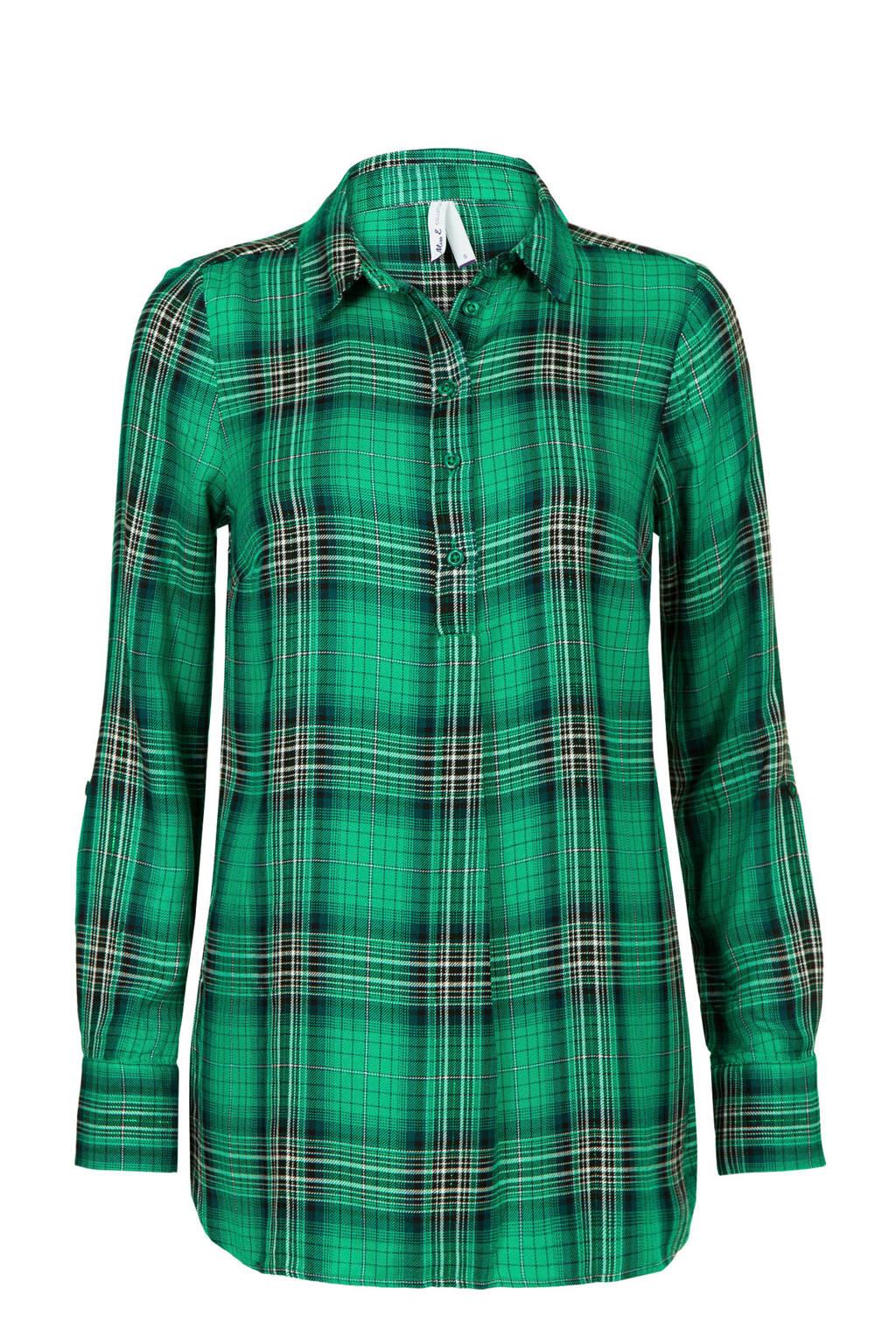 Miss Etam Regulier geruite blouse groen, Groen