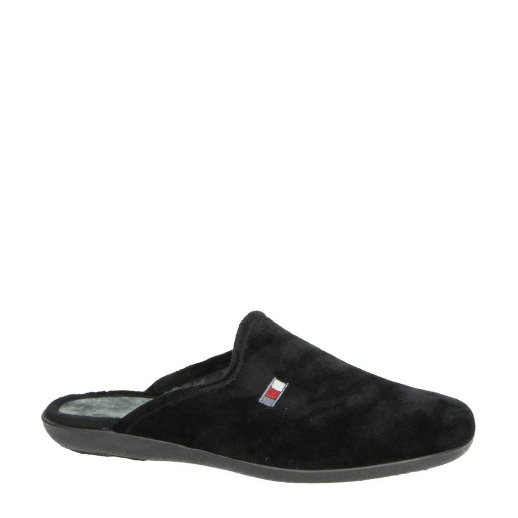 Nelson Home pantoffels zwart, Zwart